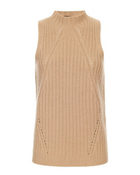 Exclusive for Intermix Mock Neck Ribbed Knit