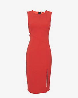 Veronica Beard Cut Out Stretch Sheath Dress