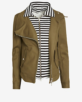 Veronica Beard Striped Dickey Army Jacket