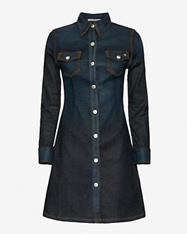Alexa Chung for AG Pixie Denim Shirt Dress