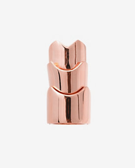 Eddie Borgo Hinged Knuckle Ring: Rosegold
