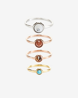Eddie Borgo Gemstone Cone Stackable Ring Set
