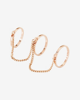 Eddie Borgo Three Finger Ring: Rosegold