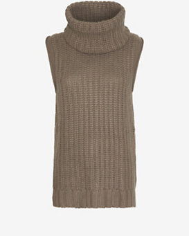Autumn Cashmere Sleeveless Turtleneck Sweater Dress