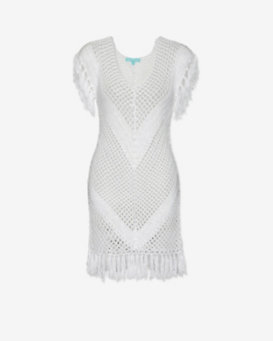 Melissa Odabash Fringe Crochet Dress