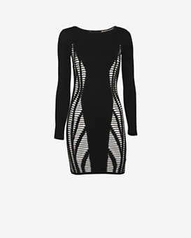 RVN EXCLUSIVE Illusion Knit Dress