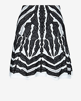 RVN EXCLUSIVE Abstract Jacquard Flare Skirt