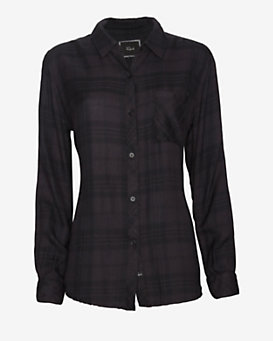 Rails Hunter Plaid Shirt: Charcoal