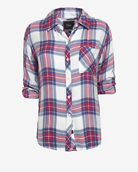Rails Hunter Plaid Shirt: Pink/Blue