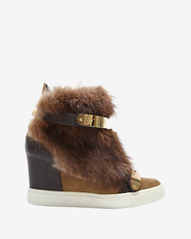 Giuseppe Zanotti Fox Fur High Top Sneakers