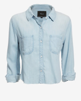 Rails Cut Away Hem Denim Shirt