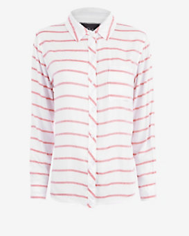 Rails Striped Shirt: Red/White