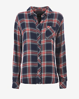 Rails Hunter Plaid Shirt: Navy