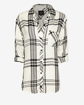 Rails Plaid Shirt: Black/White