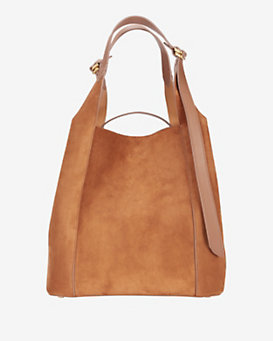 Nina Ricci Faust Suede Shoulderbag: Brown