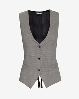L'Agence EXCLUSIVE Houndstooth Bustier Vest