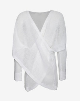 10 Crosby Derek Lam Criss Cross Sweater: White