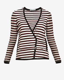 Veronica Beard Striped Breakaway Jacket