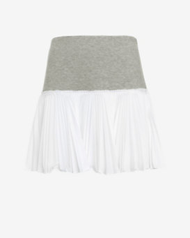 Derek Lam 10 Crosby EXCLUSIVE Pleated Bottom Sweat Skirt