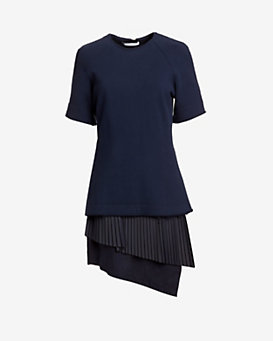 Derek Lam 10 Crosby 2-in-1 Pleated Dress