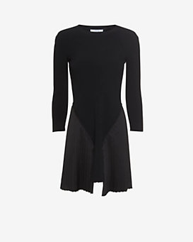 Derek Lam 10 Crosby EXCLUSIVE Pleated Bottom Sweater Dress