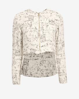 Derek Lam 10 Crosby Cropped Zip Front Jacket
