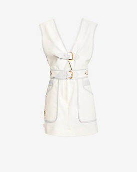 Derek Lam 10 Crosby EXCLUSIVE Buckle Detail Apron Dress
