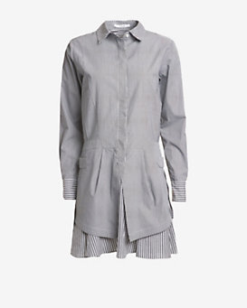 Derek Lam 10 Crosby EXCLUSIVE Striped Poplin Shirt Dress