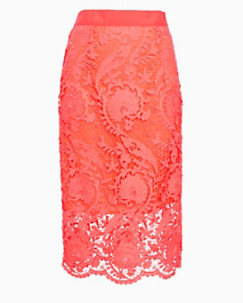 Miguelina EXCLUSIVE Sage Blossom Lace Skirt