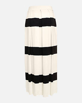 Nadia Tarr EXCLUSIVE Striped Pleated Maxi Skirt