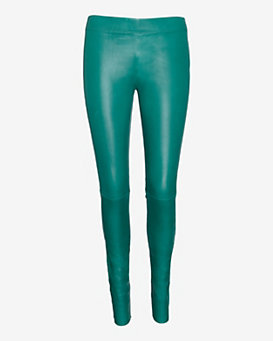 Joseph Stretch Leather Legging: Emerald