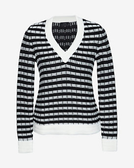 Joseph Basketweave V Neck Sweater