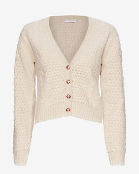 See By Chloe Chunky Knit Crop Cardi