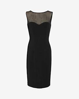 L'Agence Embellished Fitted Dress