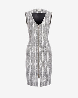 L'Agence EXCLUSIVE Eva Printed Zip Front Dress
