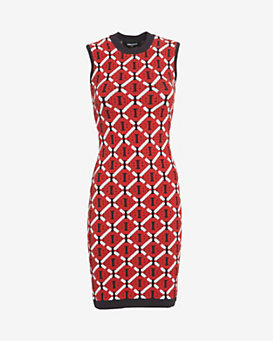 DSQUARED2 Sleeveless Jacquard Dress
