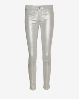 J Brand Leather Skinny: Silver Shadow