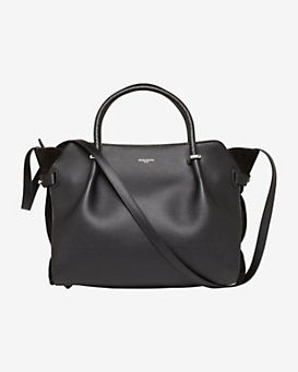 Nina Ricci Marche Medium Leather Satchel: Black