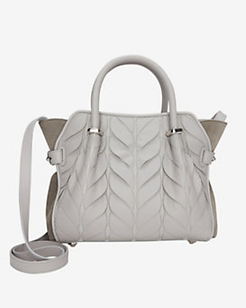 Nina Ricci Marche Laser Cut Mini Satchel: Grey