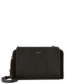 Nina Ricci Marche Small Leather Crossbody: Black