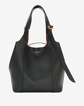 Nina Ricci Faust Leather Shoulder Bag: Black