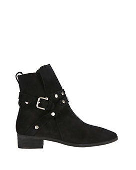 See By Chloe Studded Strap Flat Suede Boot
