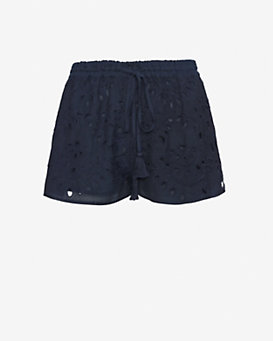 Love Sam EXCLUSIVE Eyelet Shorts: Navy