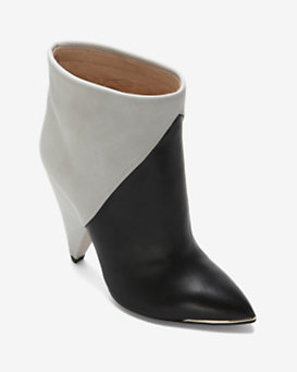 IRO Sherie Two Tone Bootie: Black/Ice