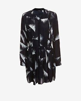 Exclusive for Intermix Maya Button Down Silk Print Dress