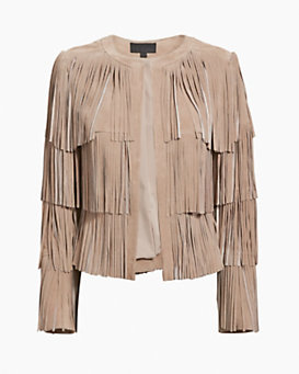 Exclusive for Intermix Layered Fringe Suede Jacket