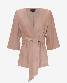 Exclusive for Intermix Goat Suede Wrap Jacket