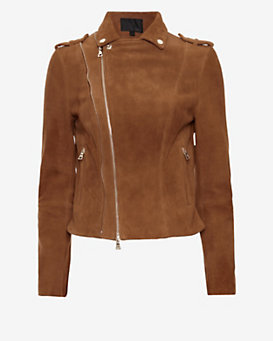 Exclusive for Intermix Goat Suede Moto Jacket