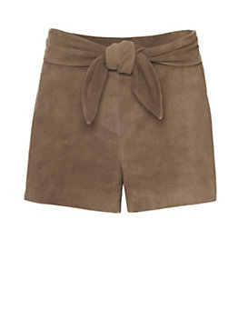 Exclusive for Intermix Tie Waist Goat Suede Shorts