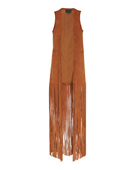 Exclusive for Intermix Goat Suede Fringe Vest